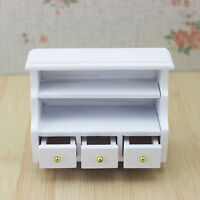 Doll House Miniature Wooden Toilet BATHROOM SHELF drawer Cabinet 1/12 furniture