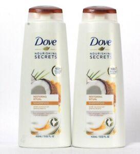 2 Dove Nourishing Secrets 13.52 Oz Restoring Ritual Coconut Oil Turmeric Shampoo
