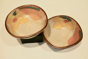 7\u201d Tall 3 12\u201d Diam Hand Made Glazed Stoneware Pottery Studio Art Bowl ~ Signed /& Dated By Artist ~ Hand Crafted
