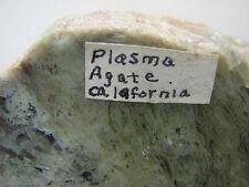 PLASMA AGATE - CALIFORNIA  - (POLISHED END CUT)