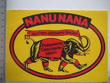 Aufkleber Sticker Nanu Nana - Geschenk Ideen (6625)