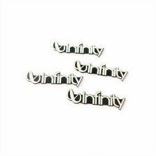 (4 Pieces) Infinity Badge Emblem Metal Logo Sticker Decal Speaker Grill NEW