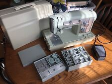 Vintage Kenmore 1802 Heavy Duty Sewing Machine w/case Of Attachments Works Mint