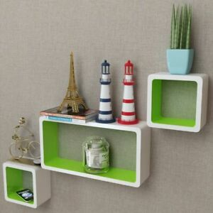 Set Of 3 Floating Shelf Wall Mount Cubes Storage Unit Book Plant Photo Display