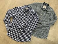 Pair of Mens TU/ Fat Face blue checked cotton shirts, S/ M, excl. used condn