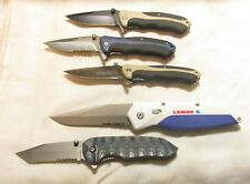 5 FOLDING KNIVES - CAMILLUS - LENOX - UNMARKED !!!