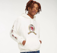 White - Hilfiger Tommy Jeans 6.0 Limited Capsule Crest Hoodie repeat logo Hoody