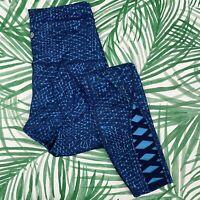 Lululemon Pure Practice Pant Samba Snake Kayak Blue Women's Size 6