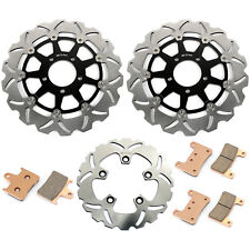 For Suzuki GSXR600 GSX-R 750 2004 2005 Front Rear Brake Discs Rotors + Pads Set