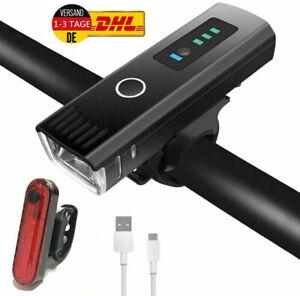 LED Fahrrad Licht Set Fahrradbeleuchtung USB Fahrradlampe Scheinwerfer Rücklicht