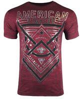 AMERICAN FIGHTER Mens T-Shirt DUSTIN NT Premium Athletic Biker MMA Gym $40