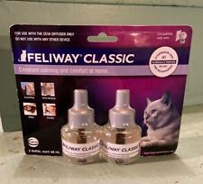 New listing 2 Pack Feliway Classic 30 Day Refill Diffuser 48ml x2 Exp 03/2021 New