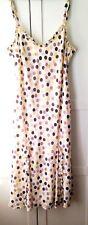 M&S Peruna Ladies Lined Summer Polka Dot Dress Size UK14L - cream