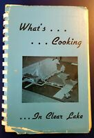 1972 Vintage Cookbook What's Cooking in Clear Lake St. Patrick's Catholic Church