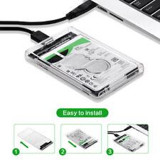 "NEW USB 3.0 SATA External 2.5"" inch HDD SSD UASP Hard Drive Enclosure Disk Case"