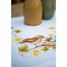 Vervaco Kit Broderie Table Runner : Petit Oiseau dans Le Nid