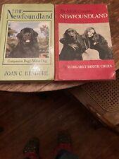 2 Rare Newfoundland Dog Books