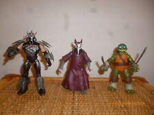 Lot 3 Tortue ninja leo shredder splinter teenage mutant turtles tmnt nickelodeon