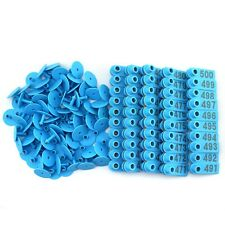 Blue 401 500 Number Plastic Livestock Ear Tags Animal Tag For Goat Sheep Pigs