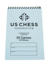 US Chess Federation Softcover Chess Scorebook - 50 Games – Blue Score Book