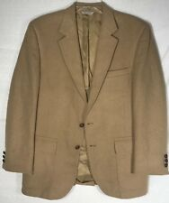 PBM MENS CAMEL BROWN 100% CAMEL HAIR SPORTS COAT JACKET BLAZER SZ 40?