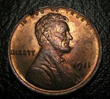 OLD US COINS UNC RED 1911 Lincoln Wheat Cent PENNY