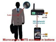 Bottone microspia Spy Camera Spia Telecamera nascosta 3G Videochiamata UMTS