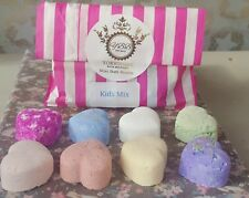 1 pack of 8 x mini bath bombs 8 random fragrances perfect for children ....girls