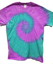 VIOLET SEA FOAM TYE DYED TEE SHIRT men women SIZE XL hippie tie dye SWIRL #502