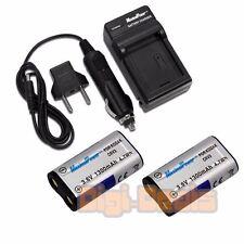 BATTERY x 2 + CHARGER For Kodak CRV3 Nikon Casio Olympus CR-V3 CRV3 LB01 LB-01
