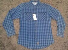 NWT Wrangler Retro Premium Boys Plaid Sanp-Up Western Shirt Youth XL (14-16)