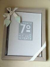 East of India Linen 70th 70 is the new 60 Birthday Photo Album Boxed Shabby Chic