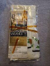 Rare Sears Merry Mushroom Ruffle Valance Curtain. New In Original Packaging