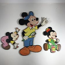 New ListingMickey Mouse Disney Cardboard Wall Hangings Group of 3