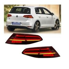 2 FEUX ARRIERE LED ROUGE POUR VW GOLF 7 LOOK PHASE 2 DE 11/2012 A 2019