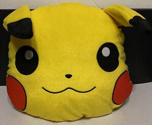 """Pokemon Pikachu Plush Pillow 15"""" Head Pillow Toy travel toy NEW condition"""