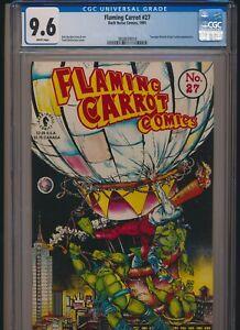 DARK HORSE COMICS FLAMING CARROT CGC 9.6 #27 DIRECT APPEARANCE OF TMNT
