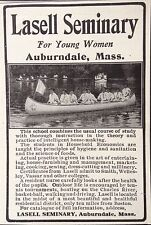 ANTIQUE 1908 AD(F4)~LASELL SEMINARY SCHOOL FOR YOUNG WOMEN. AUBURNDALE, MASS.