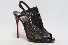 0f40b3900c6c CHRISTIAN LOUBOUTIN ESCRIMINETTE PERFORATED OPEN-TOE BOOTIE SHOES 41 10.5   995