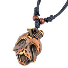 Cool Pirate skull pendant necklace adjustable rope