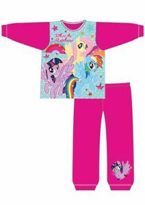 Girls My Little Pony Pyjamas PJs Nightwear Pink Rainbow 18 24 2 3 4 5 Years Long
