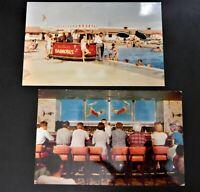 Fresno California CA Postcard Lot Barmobile Mermaid Room Motel Hacienda Motel 2