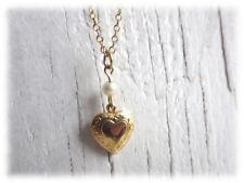 goldfarbenes Herz - Halskette Kette von Sarah Coventry