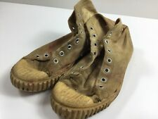 Vintage 1950s Jeepers White Canvas Basketball Sneakers Gym Shoes Usa