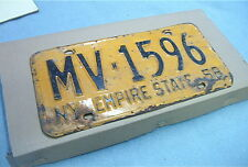 NEW YORK Vintage 1958 License Plate