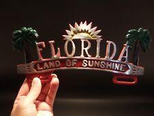 """Vintage Antique Style Florida """"Land of Sunshine"""" License Plate Frame"""