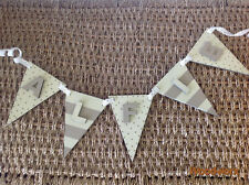 Personalised Decorative Wooden Bunting Flag Painted christening /Letters Sign#32