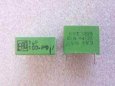 2 condensateurs 1uF 100V 5% ERO MKT1825