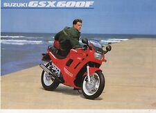 1991 SUZUKI GSX600F 2 page Motorcycle Brochure NCS