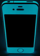 iPhone 4S * Green BLUE * Glow in the dark sticker - Front & Edge for iPhone 4S